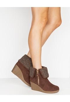 Truffle Boots med kilklackar, Ban88 Brun Bubbleroom.se