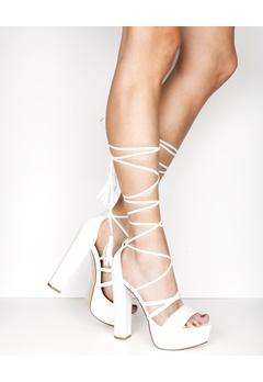 Truffle Lace Up Sandaletter, Julia Vit Bubbleroom.se