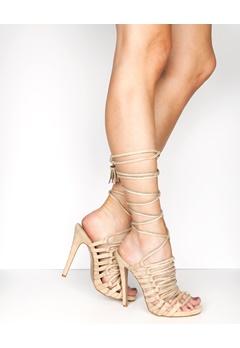 Truffle Lace Up Sandaletter, Rita99 Beige Bubbleroom.se