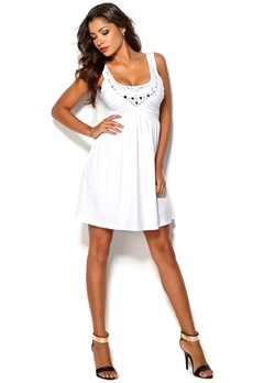 Chiara Forthi Hanna Dress Bright White Bubbleroom.se