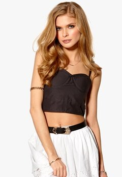 Sally & Circle Ellie Bustier Top 175 Antracit Bubbleroom.se