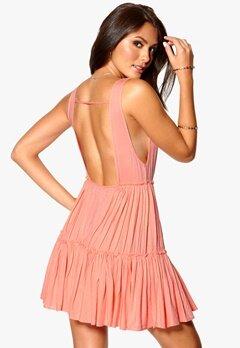 Sally & Circle Sascha Frill Dress 954 Neon Apricot Bubbleroom.se