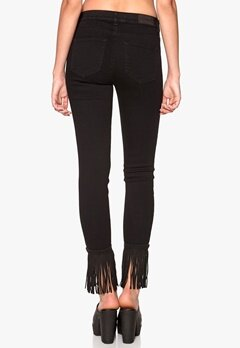 2nd One Nicole Jeans Black Fringes Bubbleroom.se