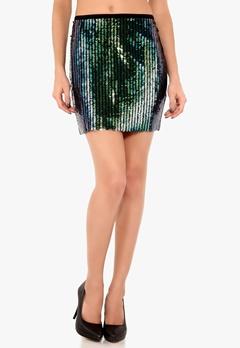 Y.A.S May Sequin Skirt Black Bubbleroom.se