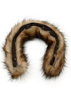 Boomerang Fake Fur Collar 14 Natural Bubbleroom.se
