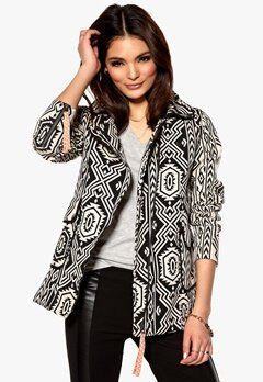 MINKPINK My Freedom Biker Coat Black/White Bubbleroom.se