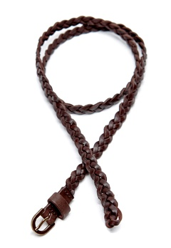 Pieces Enya Slim Leather Belt Mocca Bubbleroom.se
