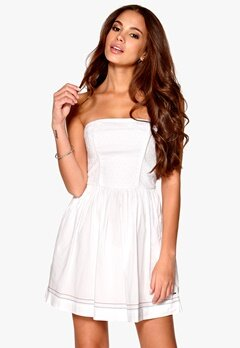 TOMMY HILFIGER DENIM Eleanora Strapless Dress Classic White Bubbleroom.se