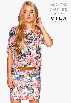 VILA Valentine Short Skirt Gardenia Bubbleroom.se