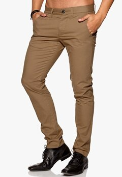 SELECTED HOMME One Luca Chino Pant Dark Camel Bubbleroom.se