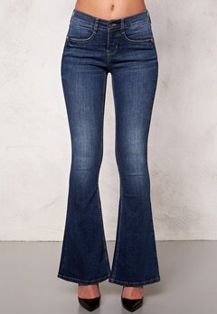 77thFLEA Tove Flared Superstretch Dark mid blue Bubbleroom.se