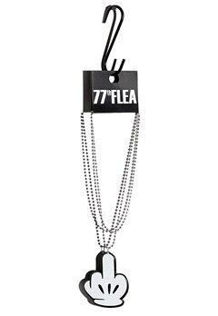 77thFLEA Finger necklace White/Black/Silver Bubbleroom.se