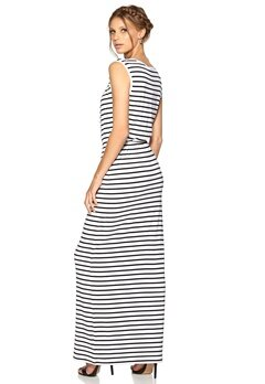 SOAKED IN LUXURY Chiara maxi dress White/Black Bubbleroom.se