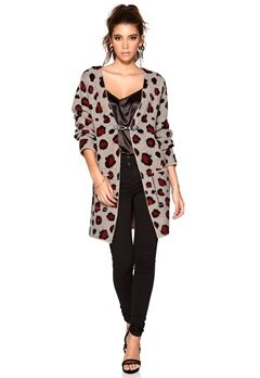 77thFLEA Tianjin leo cardigan Grey/Black/Wine-red Bubbleroom.se