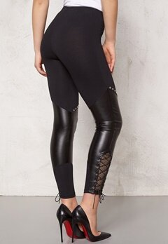 TrulyMine Leggings Svart Bubbleroom.se