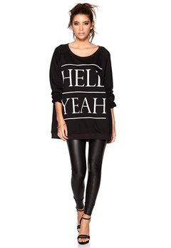 77thFLEA München sweater Black/Yeah Bubbleroom.se