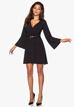 Chiara Forthi Binx Belt Dress Black/Gold Bubbleroom.se