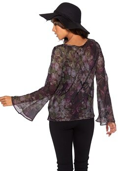 Chiara Forthi Botanica Blouse Dusty purple/Floral Bubbleroom.se