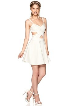 WYLDR In love dress Ivory Bubbleroom.se