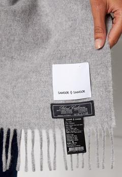 Samsøe & Samsøe Accola Maxi Scarf Grey Mel Bubbleroom.se