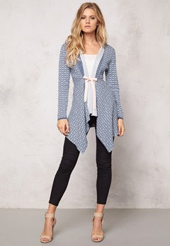 Happy Holly Cardigan Terese Blå/Offwhite Bubbleroom.se