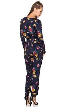 WYLDR Sophie Jumpsuit Navy Floral Bubbleroom.se
