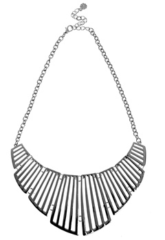 Pieces Vivo Necklace 1 Silver Colour Bubbleroom.se