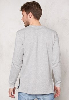 ONLY & SONS Zain Long Crew Neck Light Grey Melange Bubbleroom.se
