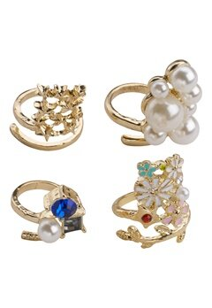 Chiara Forthi High Priestess Nail Rings Gold/Multi Bubbleroom.se