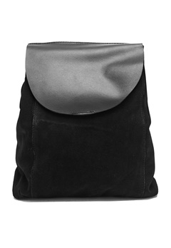 Pieces Vigga suede backpack Black Bubbleroom.se