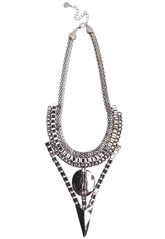 Pieces Opal necklace Silver Bubbleroom.se