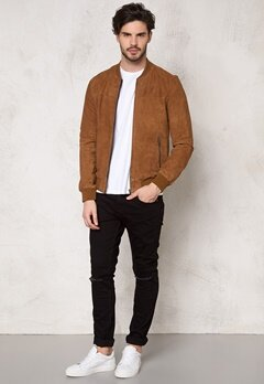 JACK&JONES Leather 2 Jacket Bone Brown Bubbleroom.se