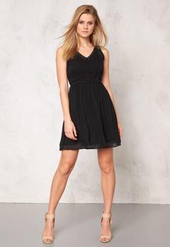VERO MODA Freja s/l mini dress Black Bubbleroom.se