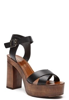 VERO MODA Bea leather sandal Black Bubbleroom.se