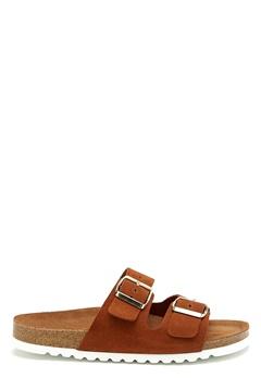 VERO MODA Julia leather sandal Cognac Bubbleroom.se