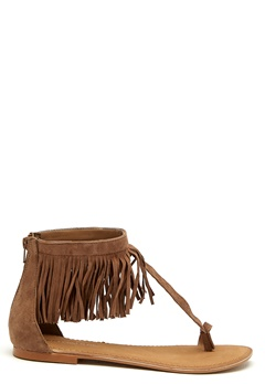 VERO MODA Kate leather sandal Cognac Bubbleroom.se