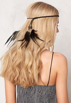77thFLEA Feather hairband Black Bubbleroom.se
