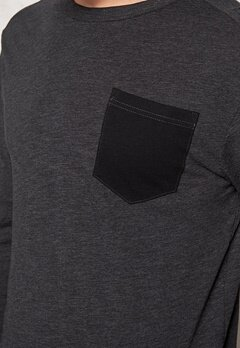 G-STAR Rinep Pocket l/s Sweater 990 Black Bubbleroom.se