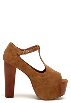 Jeffrey Campbell Foxy WD Shoes 250 Camel Suede Bubbleroom.se