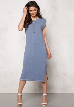 OBJECT Sandy S/S Long Dress Stonewash Bubbleroom.se