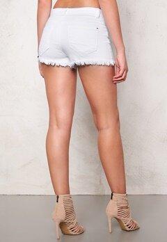 Jacqueline de Yong Roy Denim Shorts White Bubbleroom.se