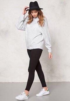 VILA Cant knit top Light Grey Melange Bubbleroom.se