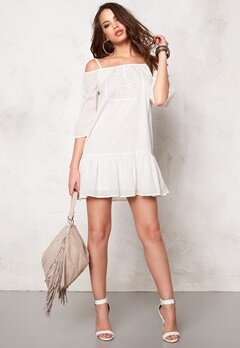 ONLY Guntal Off Shoulder Dress Whisper White Bubbleroom.se