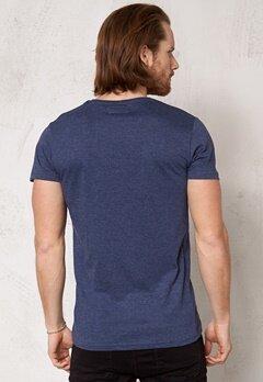Solid Anselm T-shirt 8549 Med Blue Mel. Bubbleroom.se