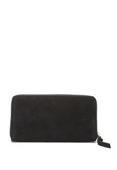 Pieces Pomona Suede Clutch Black Bubbleroom.se