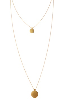 Pieces Bree Necklace Gold Bubbleroom.se