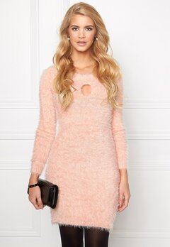 Chiara Forthi Keyhole Knit Dress Powder Pink Bubbleroom.se