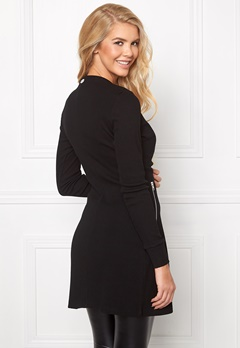 Chiara Forthi Ribbed Bodycon Dress/Jacket Black Bubbleroom.se