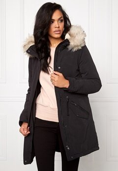ONLY Lucca Long Parka Black Bubbleroom.se