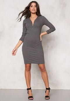 VILA Lenda Dress Dark Grey Melange Bubbleroom.se